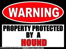 "Hound Dog Warning Sticker Beware of Dog Style Decal 6""x4.5"" WS473"