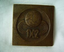 Warsaw Poland communist era medal plaque National Sports Lottery 1956 Lotto Toto