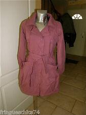 abrigo gabardina rosa cálido KANABEACH abejorro T 38 valorada en € ETIQUETA