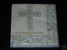 NIP Christening Celebration GRACE 16pk Luncheon Napkins Party Supplies Religious