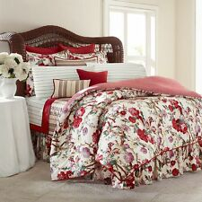 4pc CHAPS By RALPH LAUREN Sarah FULL Comforter Bedding Set RED GREEN PURPLE NWT