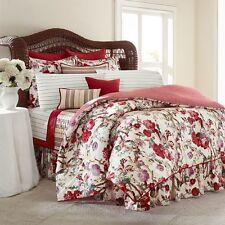4pc RALPH LAUREN CHAPS Sarah FULL Comforter Bedding Set RED GREEN PURPLE NWT