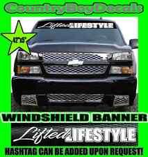 LIFTED LIFESTYLE Windshield Brow Vinyl Decal Sticker Truck Car Diesel Turbo Mud