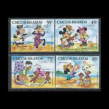 Caicos, Sc #42-45, MNH, 1984, Disney, Easter, A350EAD-A