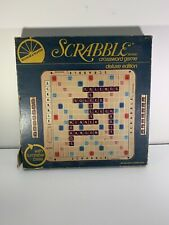 Scrabble Deluxe Edition w/ Maroon Tiles & Turntable Rotating Base, 1982 See Info