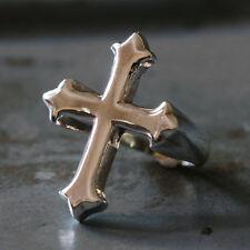 Vintage Biker Ring Jesus sterling silver Cross Christian Faith Religious Prayer