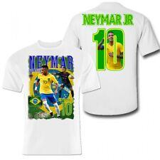 Neymar Polyester sports t-shirt Brazil kids Paris football shirt