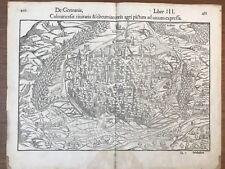 PLAN DE LA VILLE DE COLMAR MUNSTER C.1560