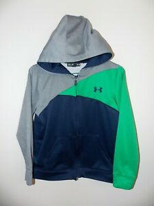 Boy's Under Armour Full Zip Hooded Jacket YMD Blue # 1237238