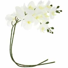 """Artificial Butterfly Orchid Flowers (2 Pack), White, 37.4"""" Length"""