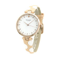 Leather Strap Ladies Watch Ksw1450 New Kate Spade Holland White Dial Two-Tone