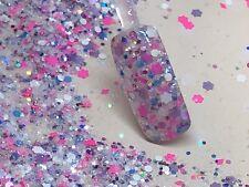 glitter mix acrylic gel nail art  CHEYENNE