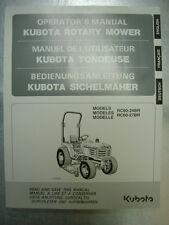 Kubota RC60-24BR - RC60-27BR Operator's Manual