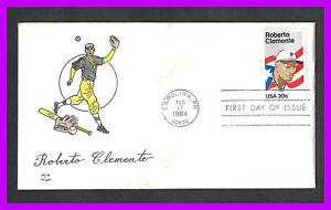 "ROBERTO CLEMENTE: 1984 David ""C"" Cachet - first day cover, Carolina, PR"