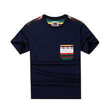 New Fashion Mens Casual T-Shirt Crew Neck Short Sleeve Pocket Tee Size L 215001A