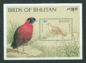 Bhutan - Hojas Yvert 313 ** Mnh Aves
