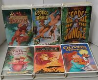 Lot of 6 VHS Walt Disney Movies George of the Jungle 1 & 2 Oliver & Company