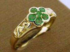 Emerald Yellow Gold 14 Carat Fine Rings