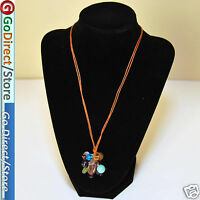 Multi Colour Gemstone Necklace With Extendable Chain, fashion accessories