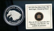 Canada 2013 $20 The Bald Eagle Pure Silver Coin & Certificate DCB888