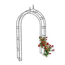 Rosenbogen mit Spitze Torbogen Rankgitter Rankhilfe Laubengang Eisen schwarz