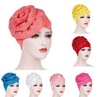 Fashion Women Muslim Hat Retro Turban Hat Head Beanie Scarf Wrap Cap Skullies FT
