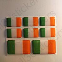 Pegatinas Irlanda Pegatina Bandera Irlandesa Vinilo Adhesivo 3D Relieve Resina