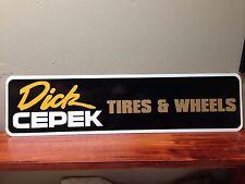 "Dick CEPEK Tires & Wheels Aluminum Sign 6"" x 24"""