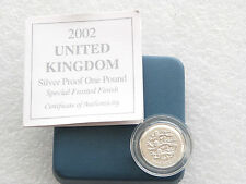 2002 Special Three Lions of England £1 One Pound Silver Matt Proof Coin Box Coa