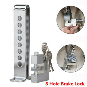 Silver Stainless Steel Car 8 Hole Anti-theft Security Device Clutch Brake Lock