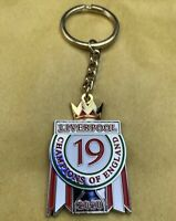 *NEW* LIVERPOOL FC - 19 TIMES CHAMPIONS OF ENGLAND 2020 KEYRING [BIG SIZE:45mm]