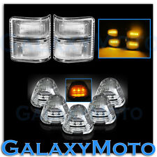 08-15 Ford Super Duty Clear Lens Amber LED Mirror Turn Signal+5pcs Cab LED Light