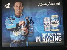 AUTOGRAPHED Kevin Harvick 2019 Busch Beer NASCAR Monster Energy Cup Hero Card