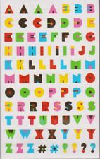 Mrs. Grossman's Giant Stickers - Retro Alphabet - Letters with Gold - 2 Strips