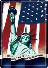 Nostalgic Art USA Liberty Stars and Stripes Miss America Blechpostkarte