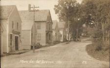 West Buxton ME Main Street c1910 Real Photo Postcard