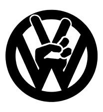 VW peace sign   window/bumper vdub euro t5 van golf polo vinyl decal sticker