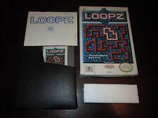 Loopz (Nintendo NES, 1990) COMPLETE IN BOX