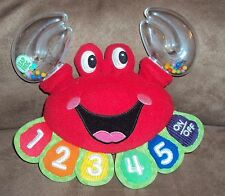 Baby Rattle Crab LeapFrog Learn to count Spanish English Stuffed Plush