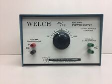 Welch Scientific Ac Dc Full Wave Power Supply 2625