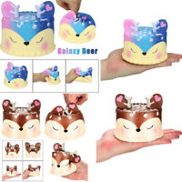 Cute Jumbo Deer Cake Slow Rising Scented Squeeze Stress Relief Toy Collection