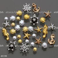 3D Nail Art Decoration Ocean Alloy Jewelry Glitter Rhinestones #E1199