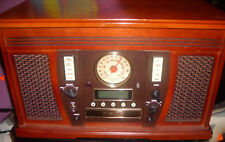 It Wooden 5 in1 Stereo Center w/ Turntable & Cd Recorder Itvs-750 w/ Manual