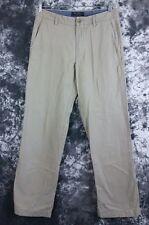 Mens 33 x 34 Banana Republic bootcut flat front chino khaki pant