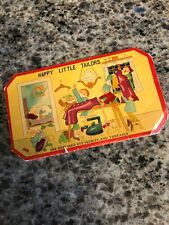 VINTAGE ADVERTISING HAPPY LITTLE TAILORS NEEDLE BOOK- SEVEN DWARFS