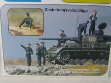 Deutsche Panzerbesatzung - Preiser Figuren 1:72 unbemalt - 72515 #E