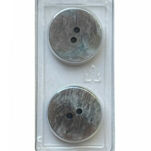 """Dill Buttons 3/4"""" 20MM Green Stone 2 Hole 2 Pack #1040 Made in Germany"""