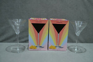 2x Chambord Cocktail Traditional Shaped Martini Glass In Gift Box Christmas 2021