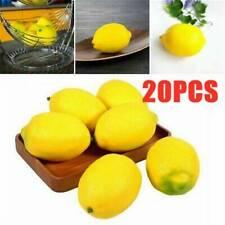 20 Piezas Mini Artificial Imitación Amarillo Limón falso fruta hágalo usted mismo Artesanía Fiesta Decoración del hogar