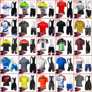 Men Team Cycling Short Sleeve Jersey bib shorts Set bike clothes bicycle Outfits